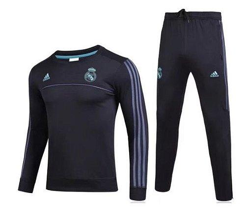 Kit pre jogo oficial Adidas Real Madrid 2017 2018 Preto