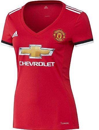 Camisa Feminina oficial Adidas Manchester United 2017 2018 I