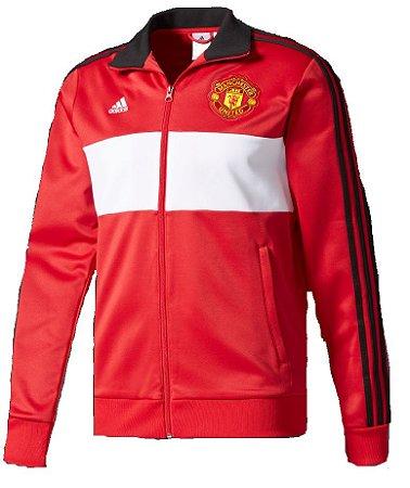 Jaqueta oficial Adidas Manchester United 2017 2018 vermelha