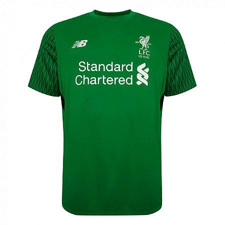 Camisa oficial New Balance Liverpool 2017 2018 I Goleiro