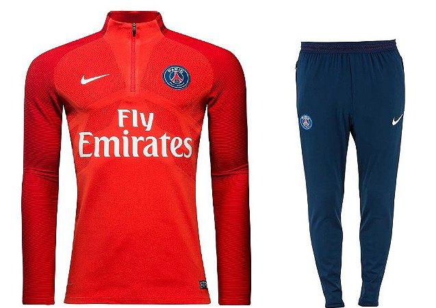 Kit treinamento oficial Nike PSG 2017 2018 vermelho