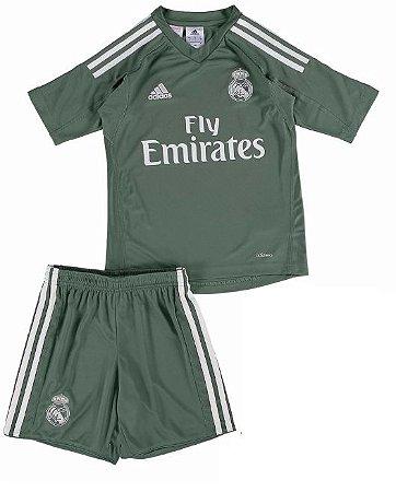 Kit infantil oficial Adidas Real Madrid  2017 2018 I Goleiro