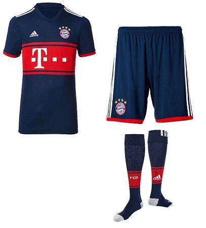 Kit adulto oficial Adidas Bayern de Munique 2017 2018 II jogador