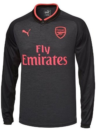 Camisa oficial Puma Arsenal 2017 2018 III jogador manga comprida