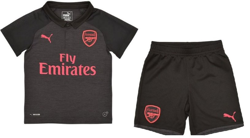 Kit infantil oficial Puma Arsenal  2017 2018 III jogador