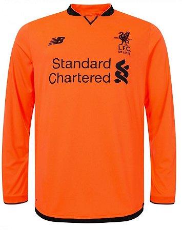 Camisa oficial New Balance Liverpool 2017 2018 III jogador Manga comprida