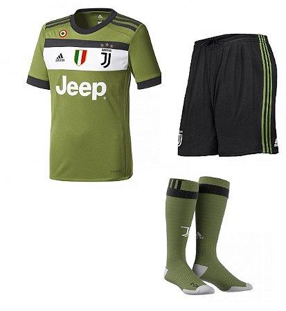 Kit adulto oficial adidas Juventus 2017 2018 III jogador