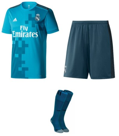 Kit adulto oficial adidas Real Madrid 2017 2018 III jogador
