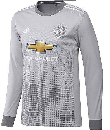 Camisa oficial Adidas Manchester United 2017 2018 III jogador manga comprida