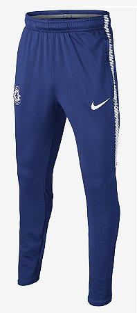 Calça de treino oficial Nike Chelsea 2017 2018 Azul