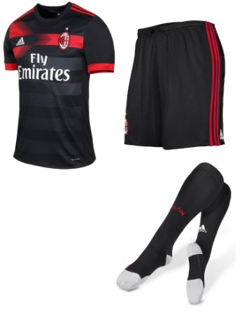 Kit adulto oficial adidas Milan 2017 2018 III jogador