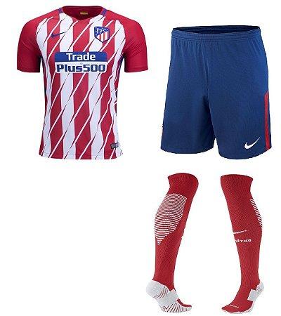 Kit adulto oficial Nike Atletico de Madrid 2017 2018 I jogador