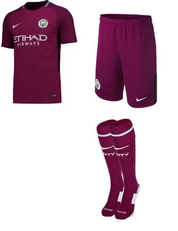 Kit adulto oficial Nike Manchester City  2017 2018 II jogador