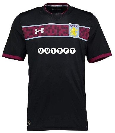 Camisa oficial Under Armour Aston Villa 2017 2018 II jogador