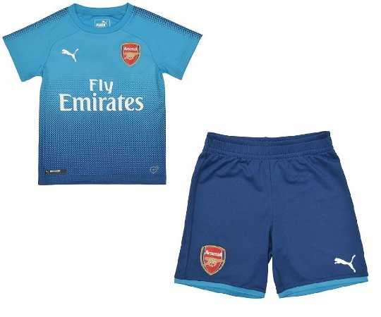 Kit infantil oficial Puma Arsenal 2017 2018 II jogador