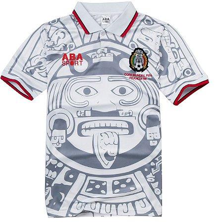 Camisa retro Aba Sport seleção do Mexico copa de 1998 Branca