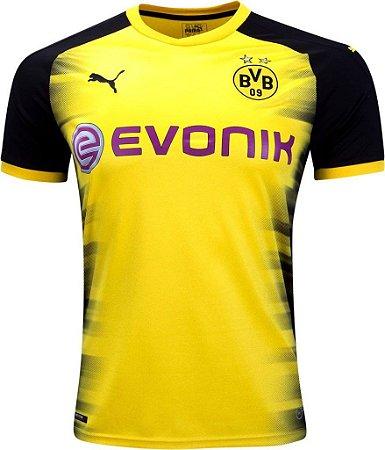 Camisa oficial Puma Borussia Dortmund 2017 2018 edição Champions League
