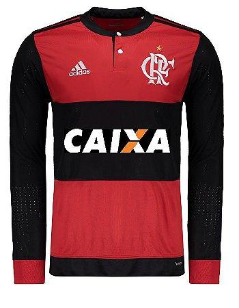 Camisa oficial Adidas Flamengo 2017 I jogador manga comprida