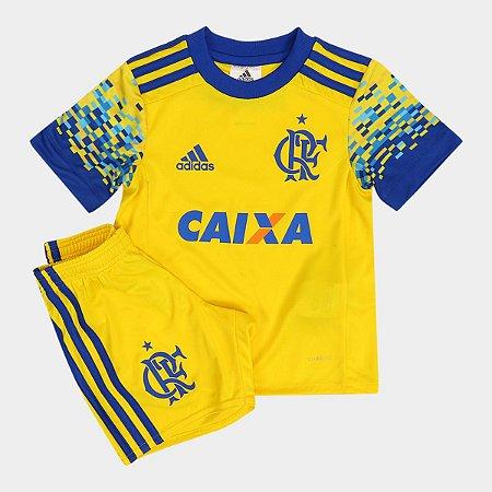 Kit infantil oficial Adidas Flamengo 2017 III jogador