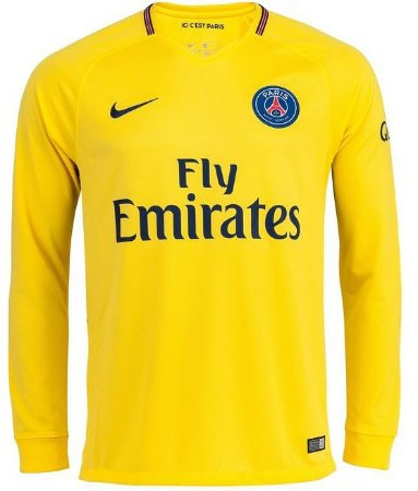 Camisa oficial Nike PSG 2017 2018 II jogador manga comprida