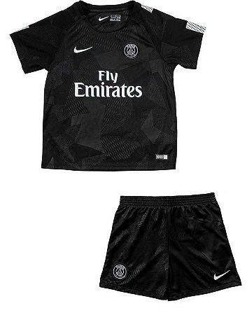 Kit infantil oficial Nike PSG 2017 2018 III jogador