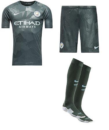 Kit adulto oficial Nike Manchester City 2017 2018 III jogador