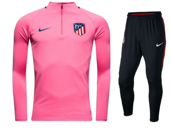 Kit treinamento oficial Nike Atletico de Madrid 2017 2018 Rosa e preto