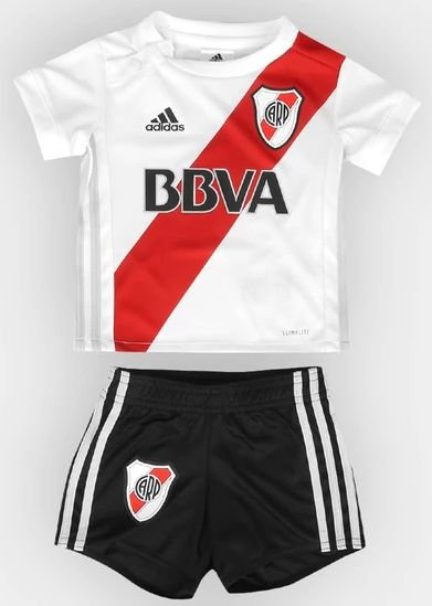 Kit infantil oficial Adidas River Plate 2017 2018 I jogador