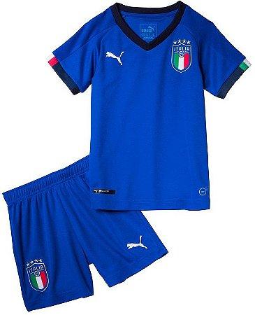 Kit infantil oficial Puma seleção da Italia 2018 I jogador