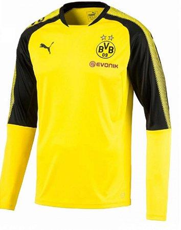 Blusão de treino oficial Puma Borussia Dortmund 2017 2018 Amarelo e preto