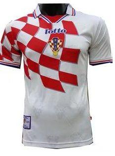 Camisa retro Lotto seleção da Croacia I jogador copa de 1998