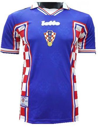 Camisa retro lotto seleção da Croacia II jogador copa de 1998