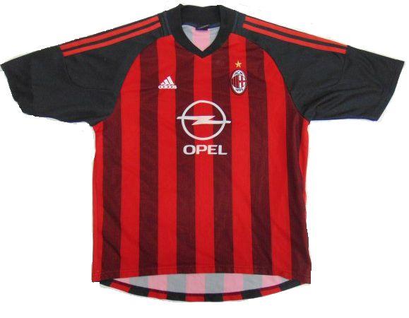 Camisa retro Adidas Milan 2002 2003 I jogador