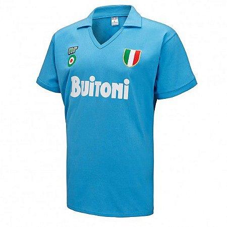 Camisa retro NR Napoli 1987 1988 I jogador