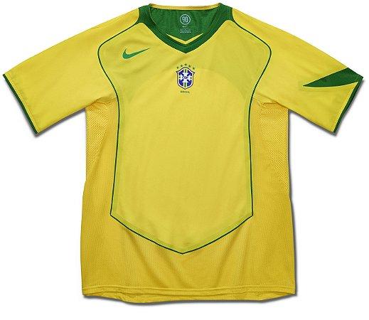 Camisa retro Nike seleção do Brasil 2004 I jogador