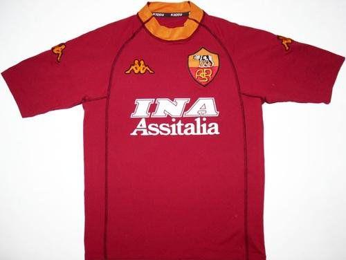 Camisa retro Kappa Roma 2000 2001 I jogador