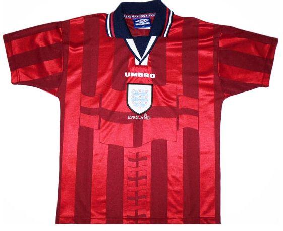 Camisa retro Umbro seleção da Inglaterra II jogador Copa do mundo 1998