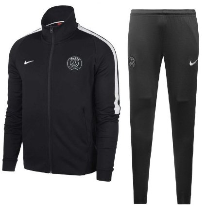 Kit treinamento oficial Nike PSG 2017 2018 Preto
