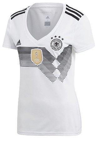 Camisa feminina oficial Adidas seleção da Alemanha 2018 I