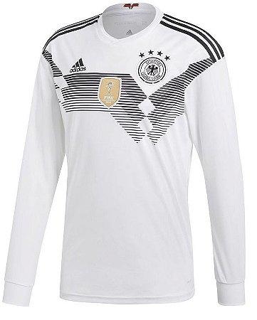 Camisa oficial Adidas seleção da Alemanha 2018 I jogador manga comprida