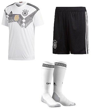 Kit adulto oficial Adidas seleção da Alemanha 2018 I jogador