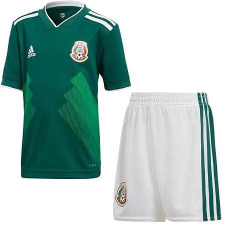 Kit infantil oficial Adidas seleção do México 2018 I jogador