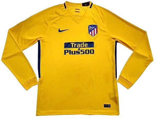 Camisa oficial Nike Atletico de Madrid 2017 2018 II jogador manga comprida