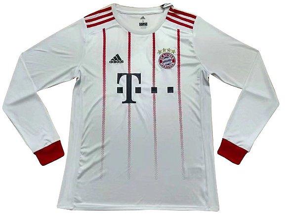 Camisa oficial Adidas Bayern de Munique 2017 2018 III jogador manga comprida