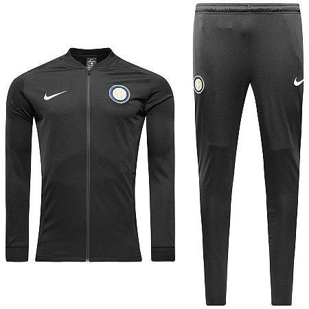 Kit treinamento oficial Nike Inter de Milão 2017 2018 Preto