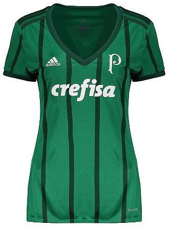 Camisa Feminina oficial Adidas Palmeiras 2017 I
