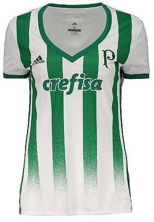 Camisa feminina oficial Adidas Palmeiras 2017 II