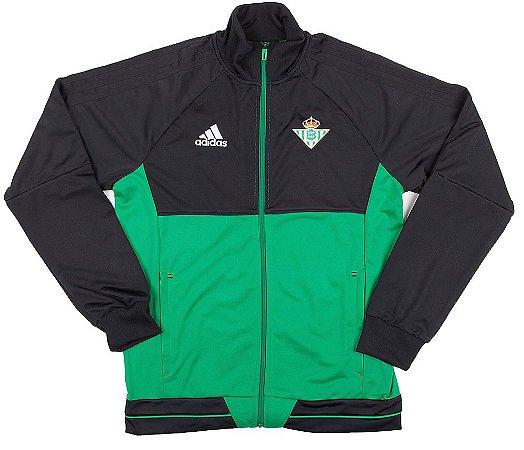 Jaqueta oficial Adidas Betis 2017 2018 Verde e preta