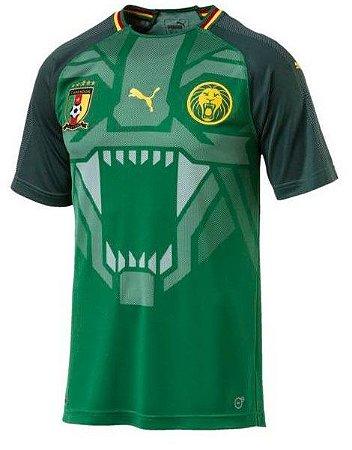 Camisa oficial Puma seleção de Camarões 2018 I jogador