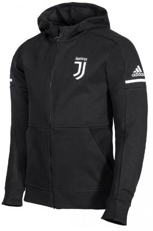 Jaqueta com capuz oficial Adidas Juventus 2017 2018 preta
